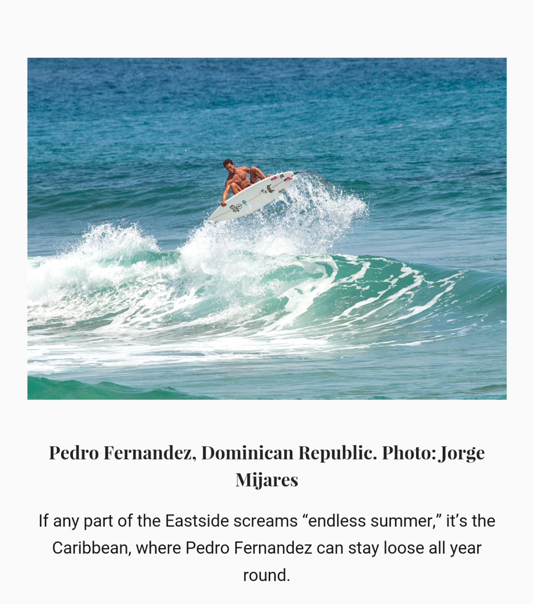 orge Mijares published in Eastern surf Magazine Dominican Republic